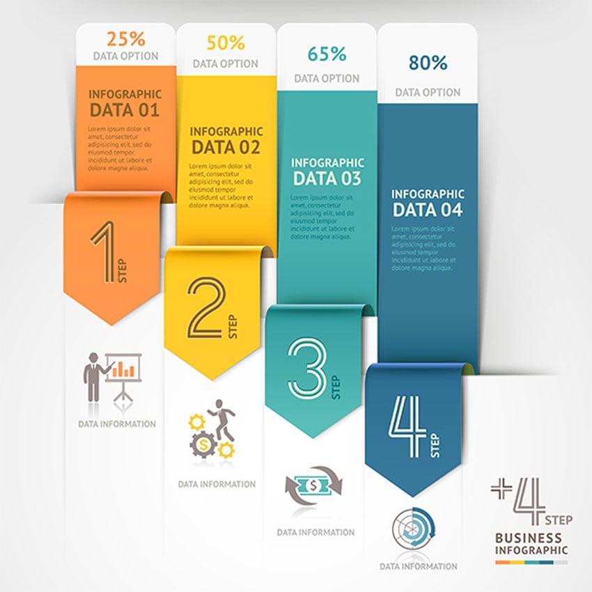 Business Arrow Infographics Template