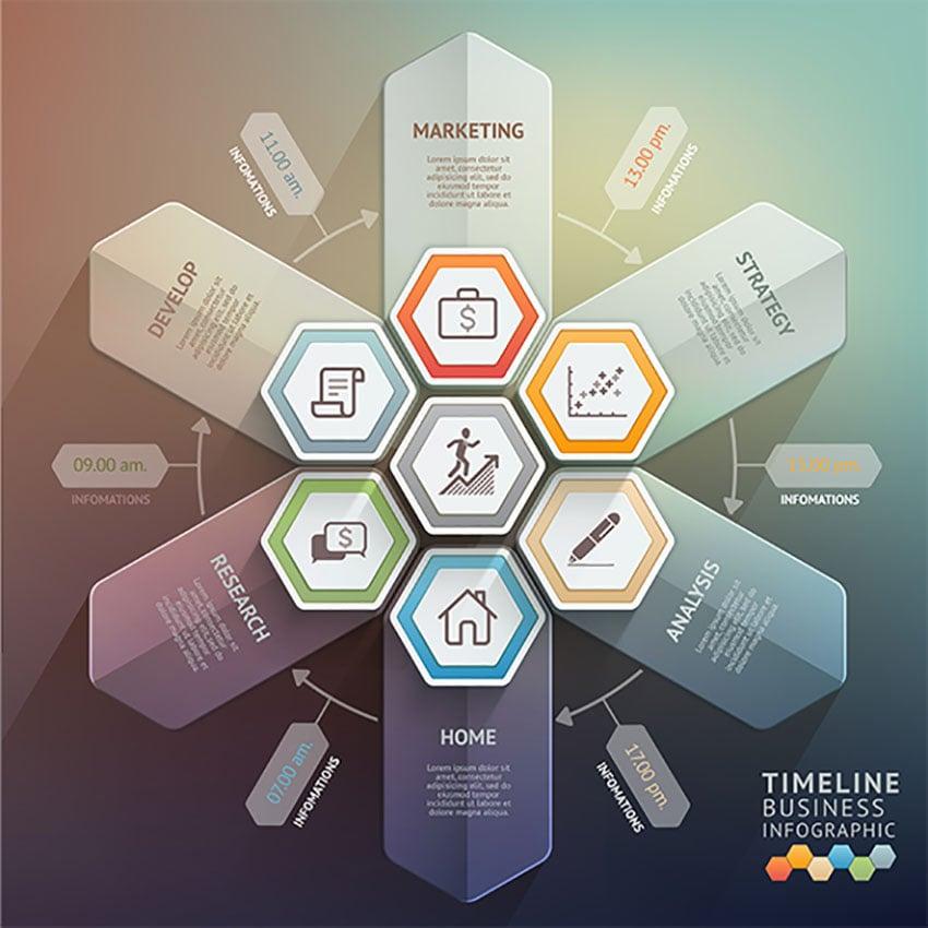 Arrow Timeline Infographics Template