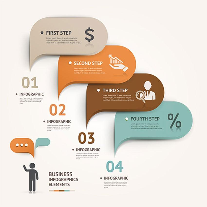 Modern Speech Bubble Infographic Template
