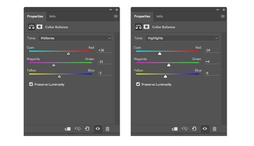 Color Balance settings