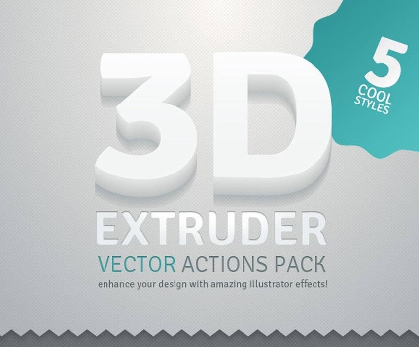 3D Extruder - Vector Actions Pack
