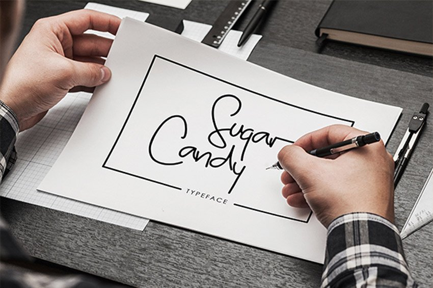 Sugar Candy Signature Typeface