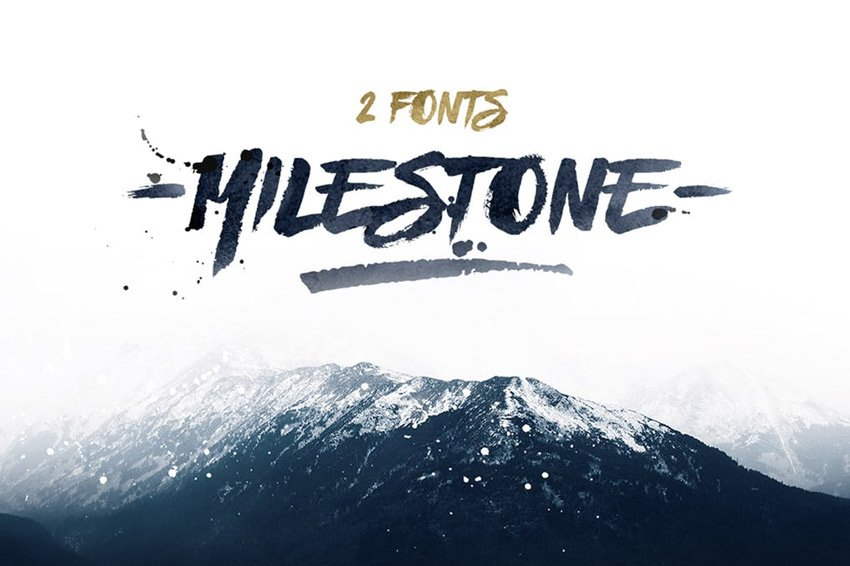 Milestone Bold Calligraphy Fonts