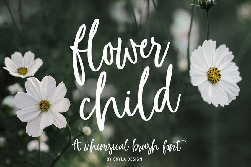 Flower Child Modern Calligraphy Font