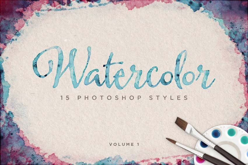 Watercolor Photoshop Styles