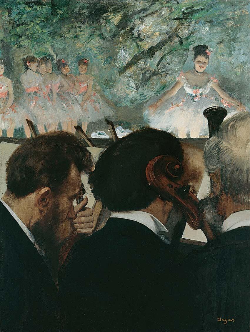 Orchestra Musicians by Edgar Degas