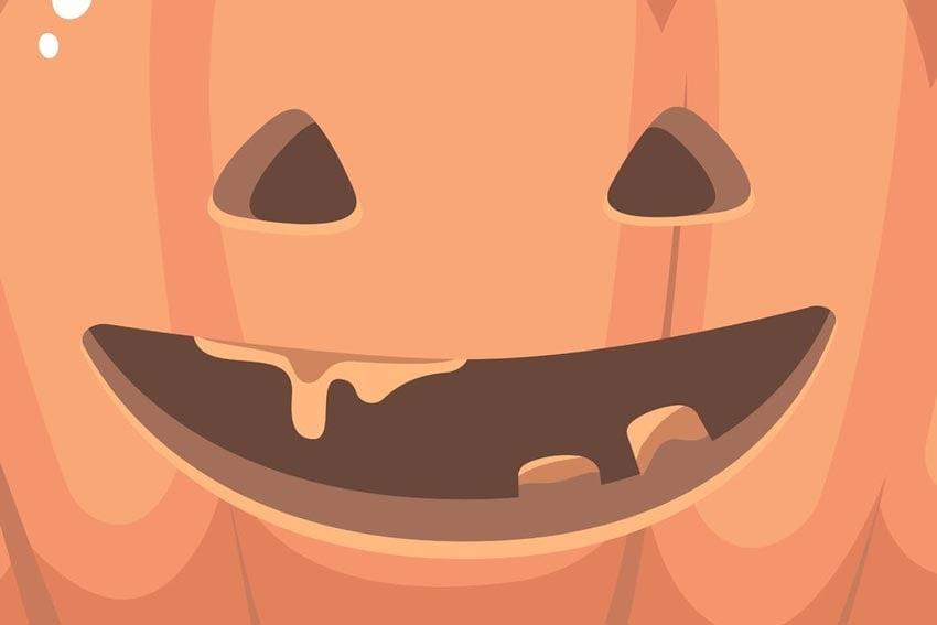 Halloween Orange Pumpkins Set