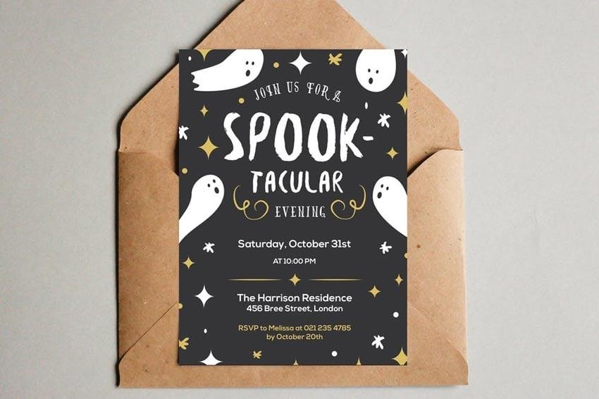 Spooktacular Halloween Party Invitation
