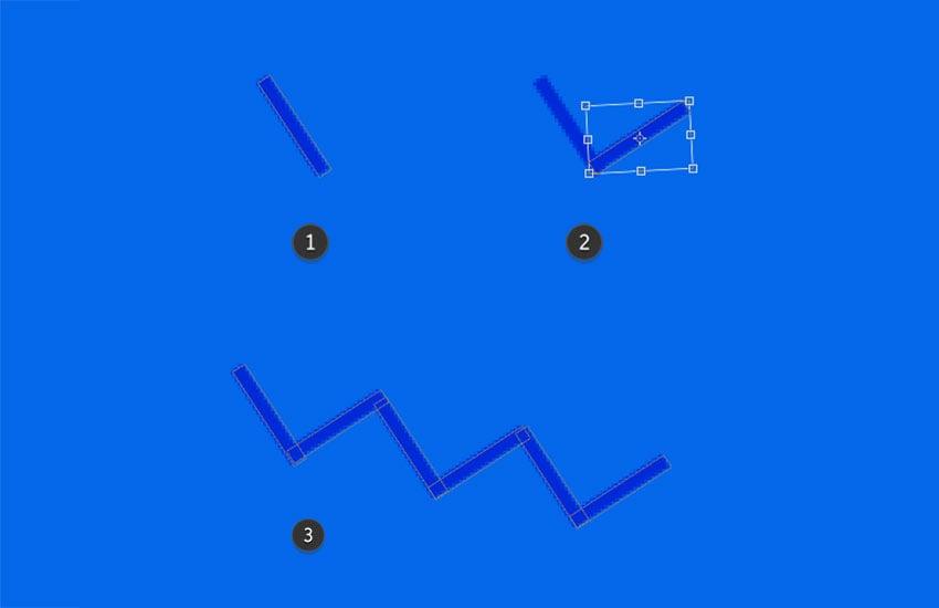 Create a zigzag line shape