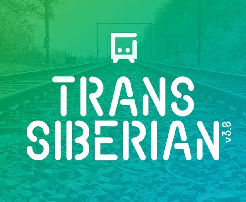 Transsiberian Stencil Font Design