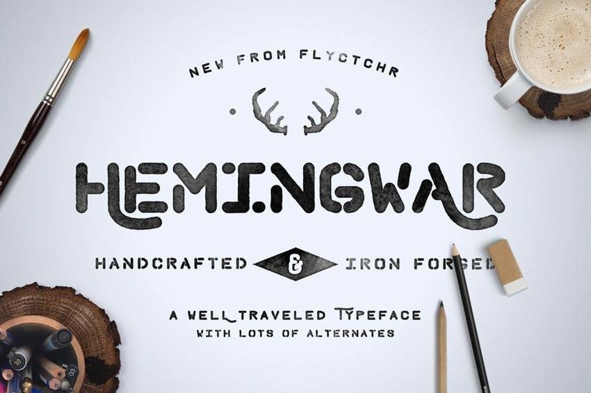 Hemingwar Stencil Font