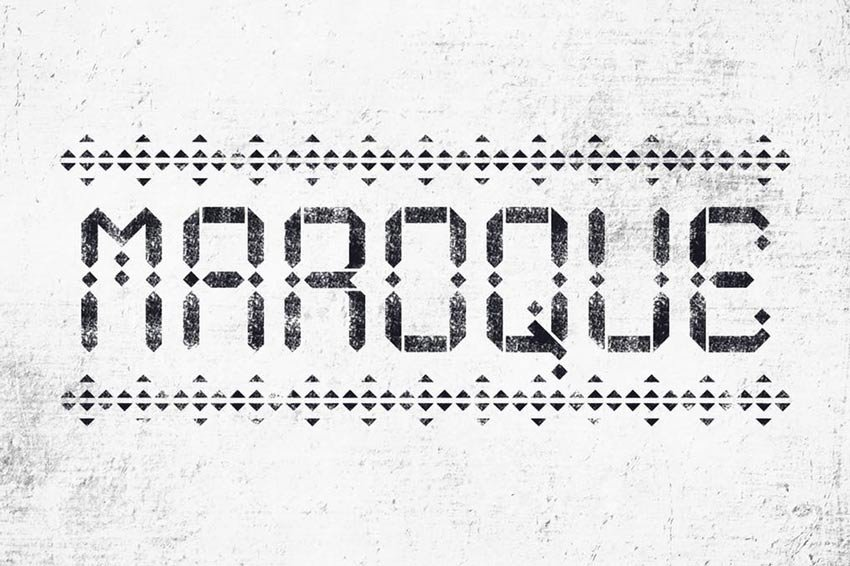 Maroque Distressed Stencil Font