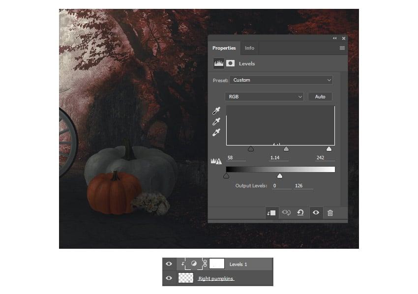 Add a levels adjustment to the pumpkins