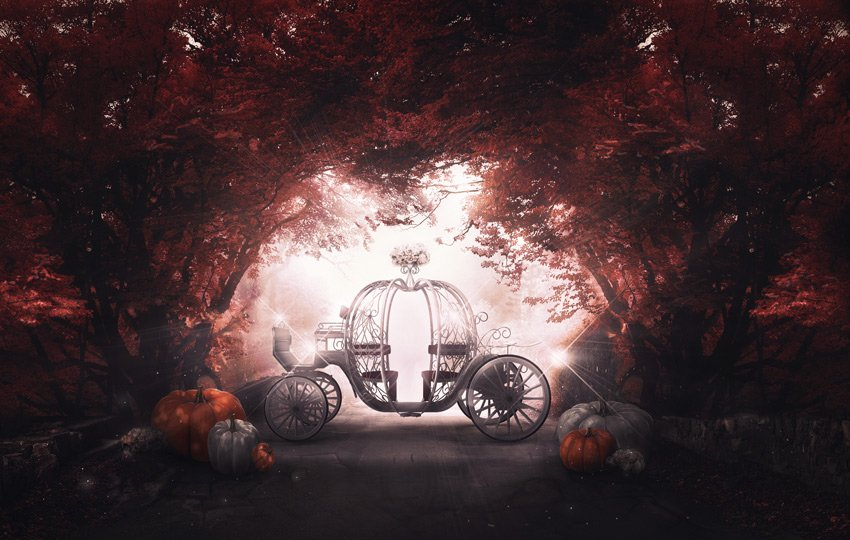Pumpkin Coach Photo Manipulation by Melody Nieves