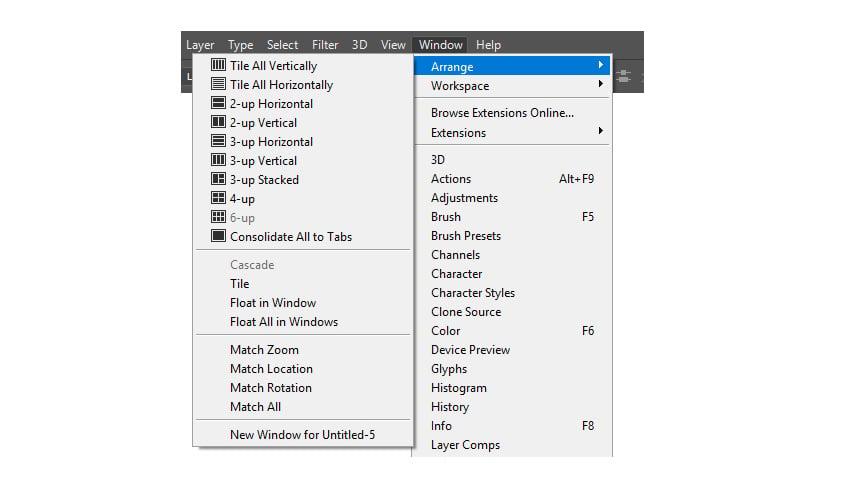 Window Arrange Options
