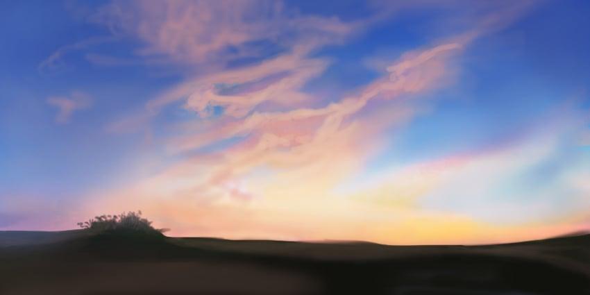 Blend the sky