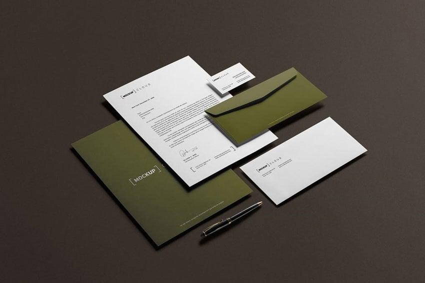 Corporate Stationery Branding Mockup