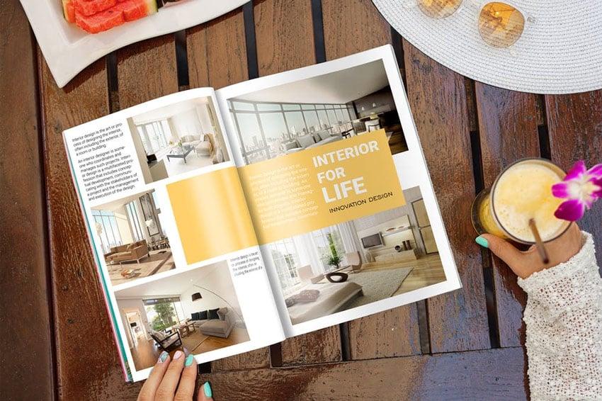 Magazine Mock-Up Glamour Edition
