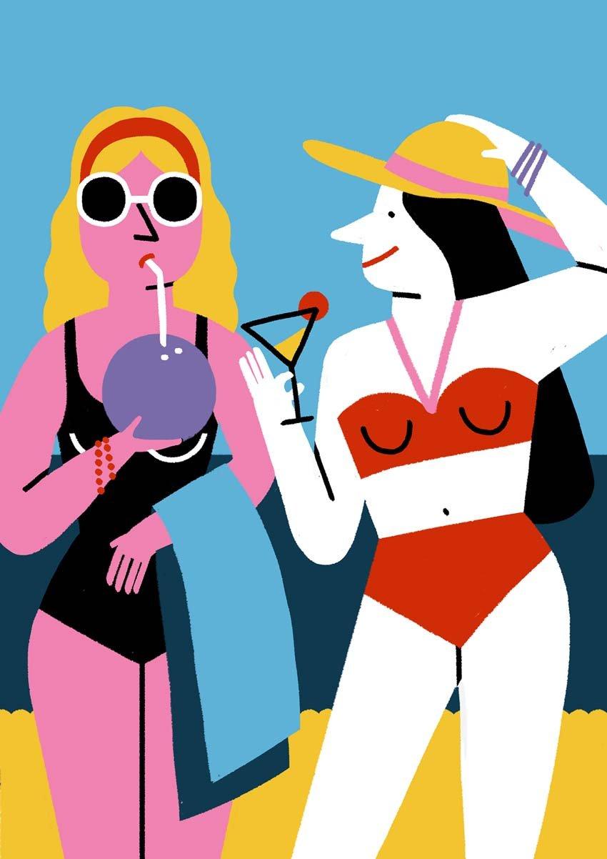 At the Beach by Ana Seixas
