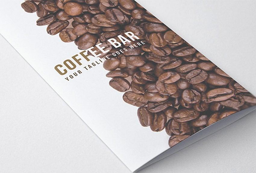 Trifold Brochure - Coffee Menu