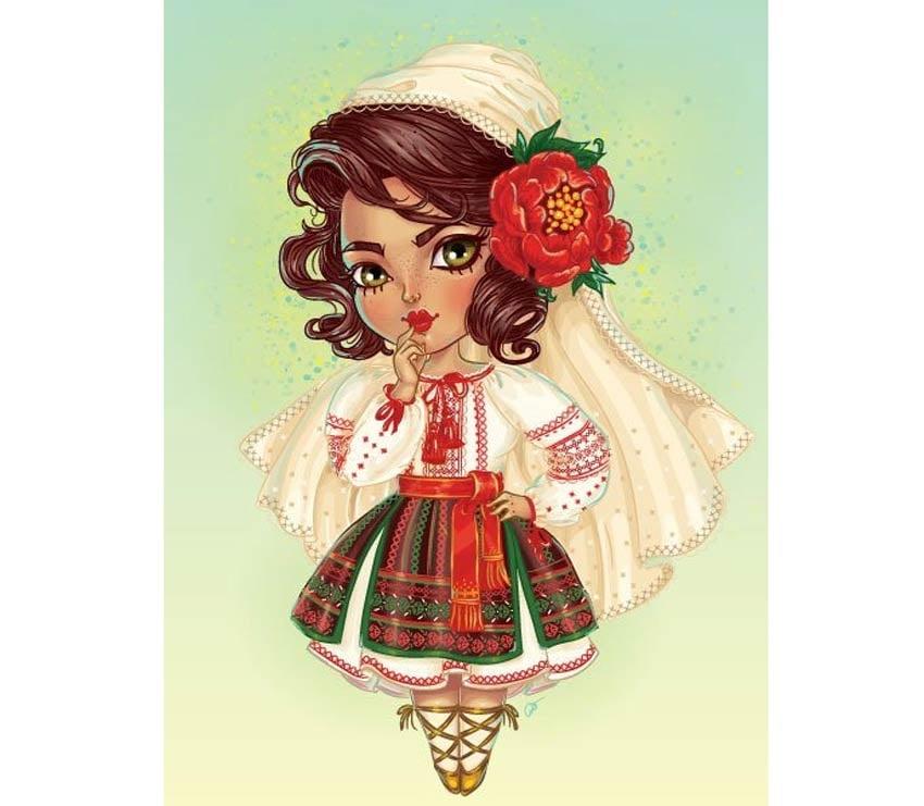 Create a Cute Moldovan Chibi Character in Adobe Illustrator