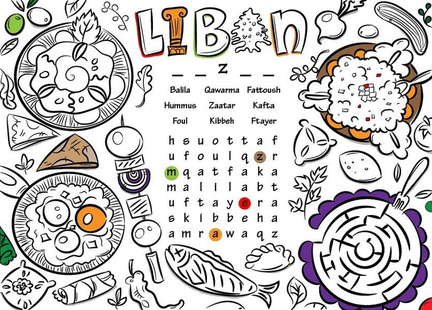 Create a Lebanese Inspired Printable Placemat for Kids in Adobe Illustrator