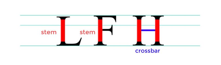 Stem and Crossbar - Anatomy of a Letter