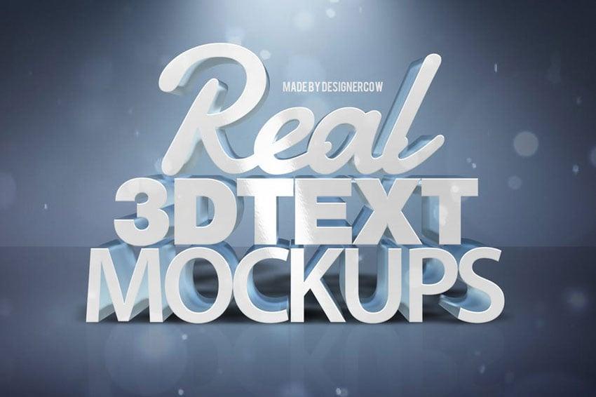 Real 3D text Mockups Vol 1