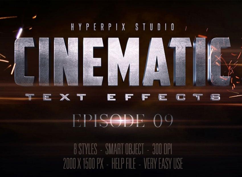 Cinematic 3D Title Text Effects Vol 9