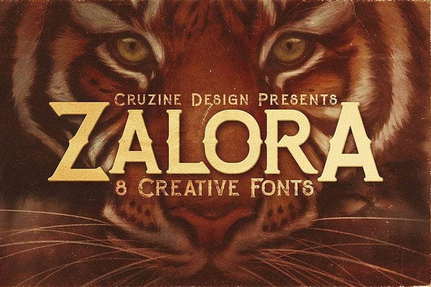Zalora Typeface