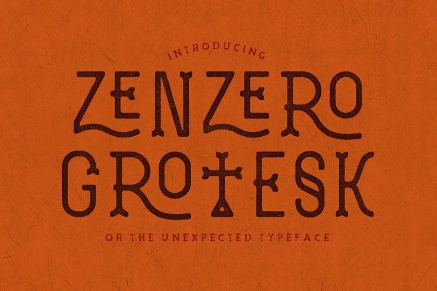 Zenzero Grotesk Typeface