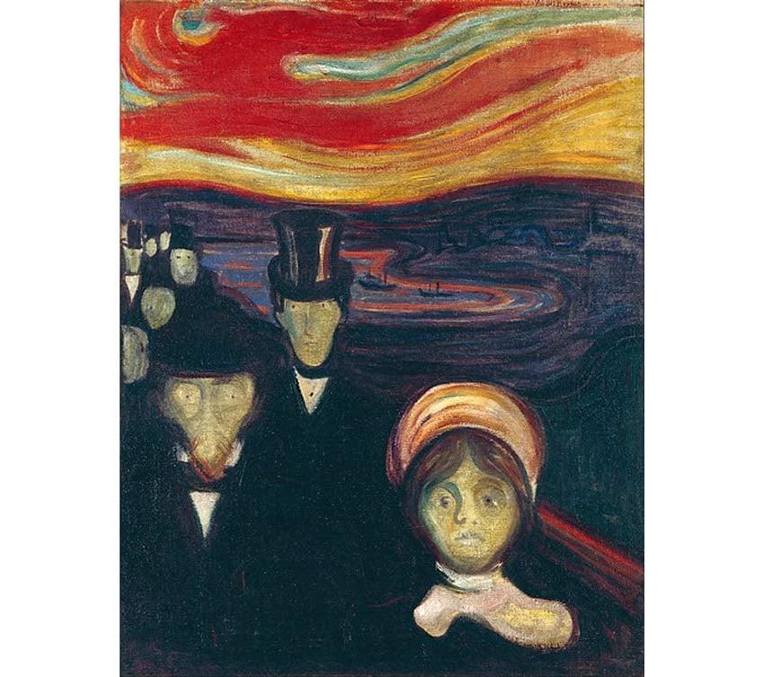 Anxiety by Edvard Munch