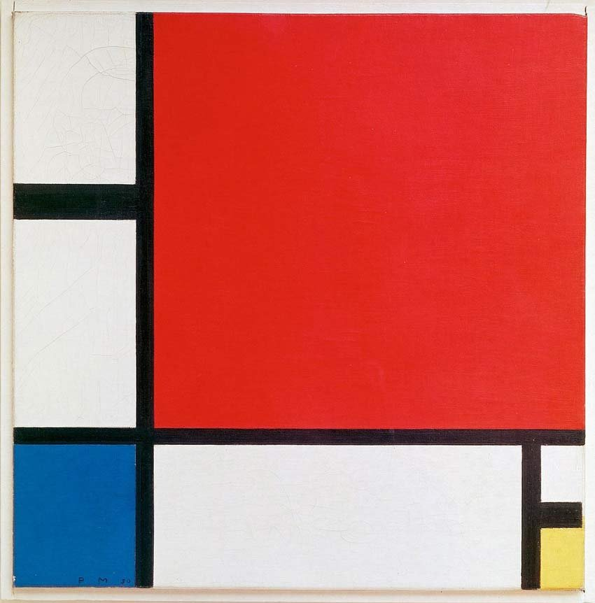 Composition II in Red Blue and Yellow 1930 by Piet Mondrian