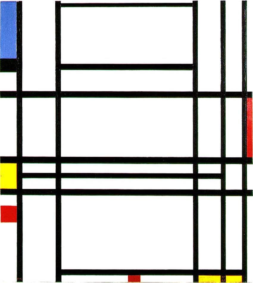 Composition 10 by PIet Mondrian