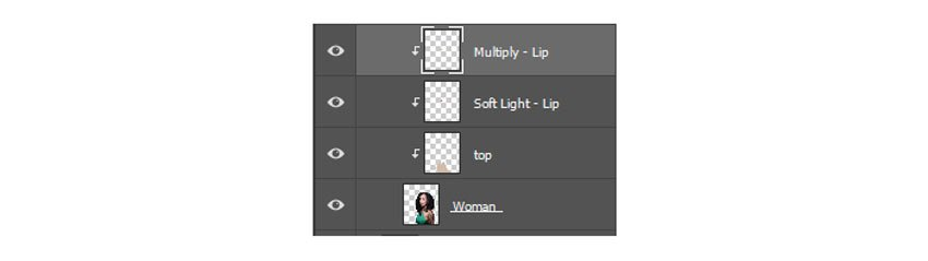 Clip layers to the woman layer
