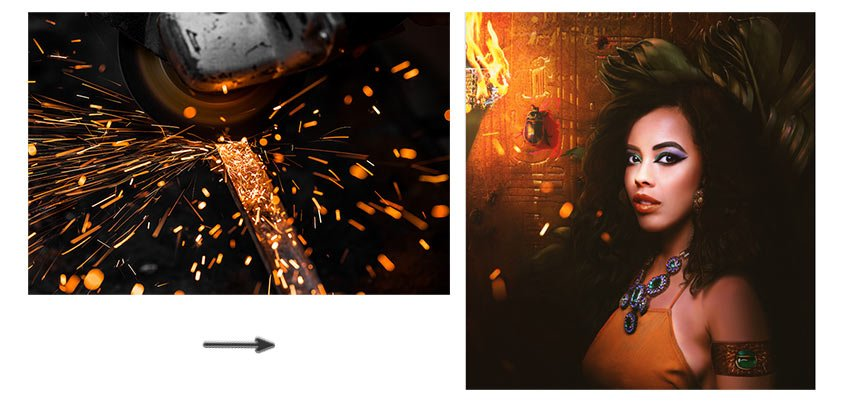 Add the sparks image