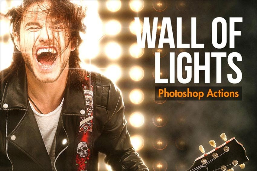 Wall Of Lights Photoshop Action