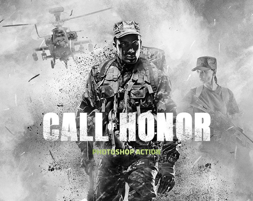 Call of Honor Photoshop Action