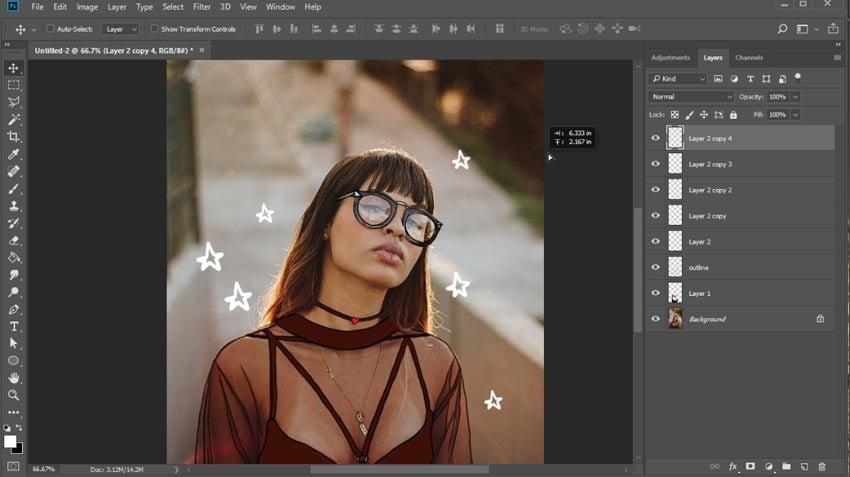 Draw stars or swirls on your photo