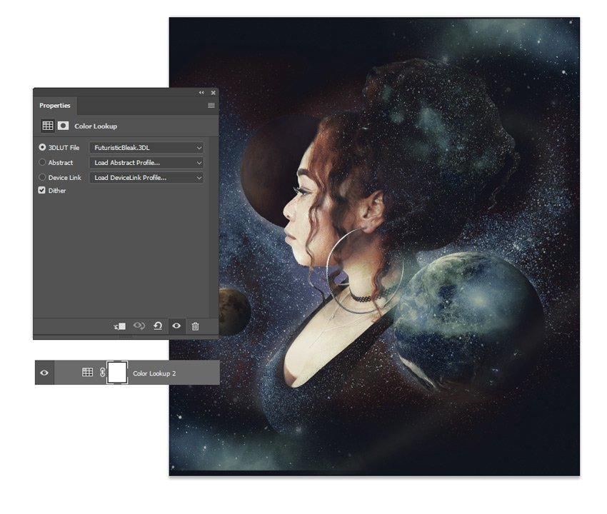 Add a color lookup layer