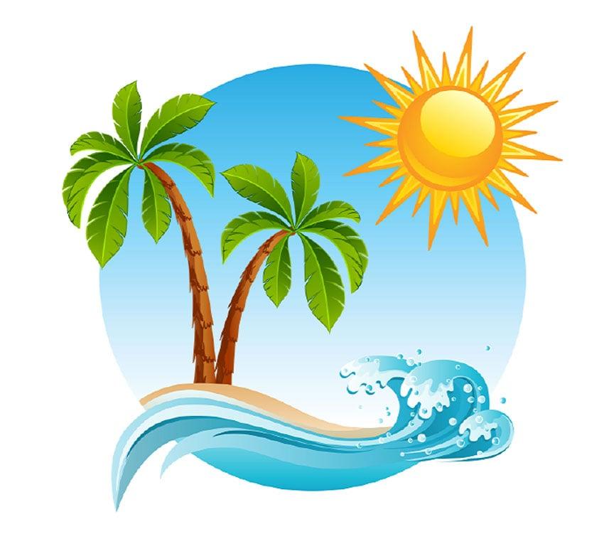 Tropical Island Illustration
