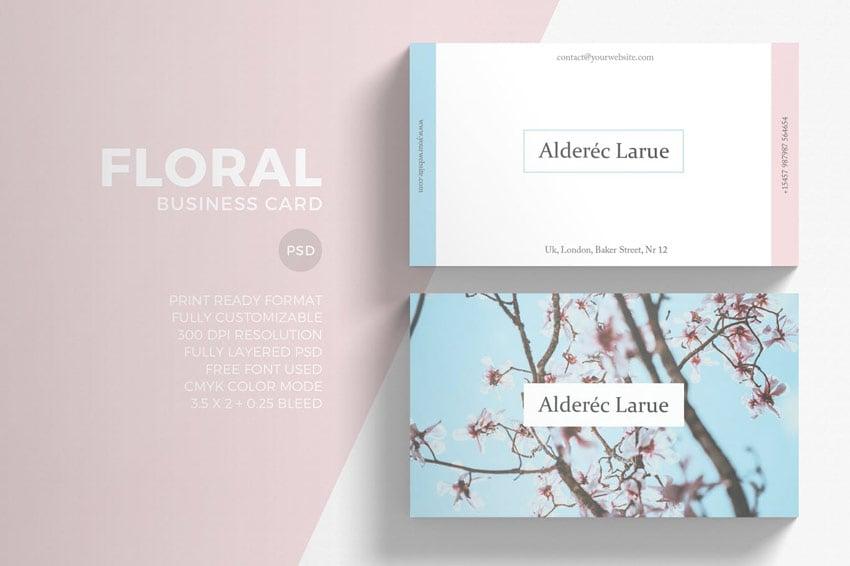 Floral Minimal Business Card