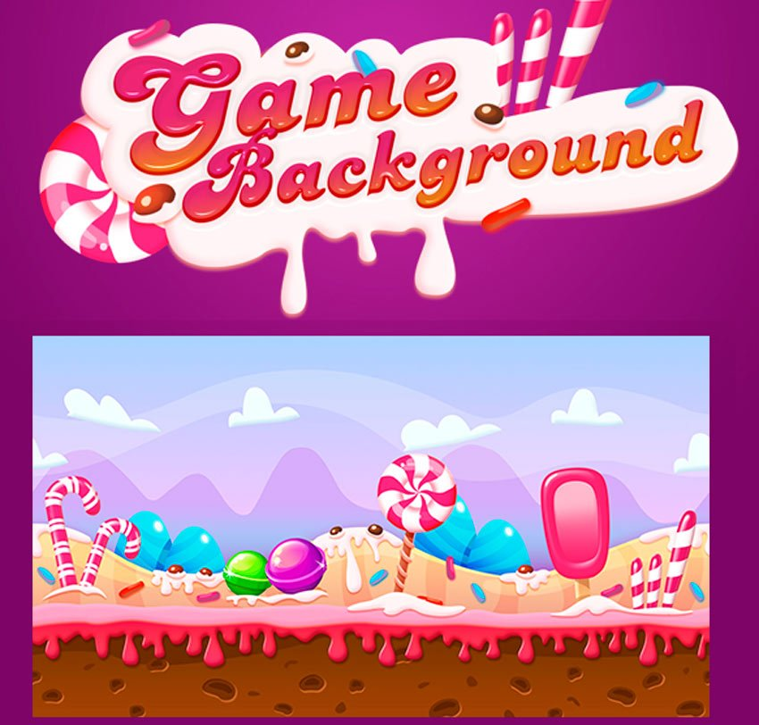 Seamless Candy Background For Game