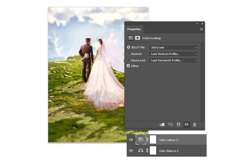 Add a new color lookup layer