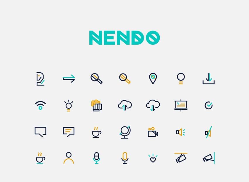 Nendo Logo and Icons