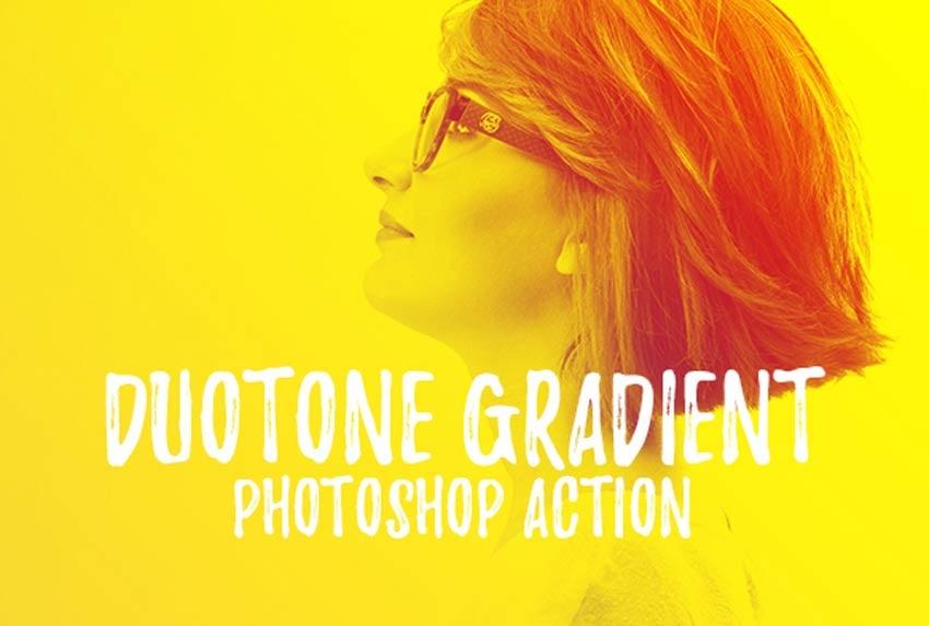 Duotone Gradient Photoshop Action