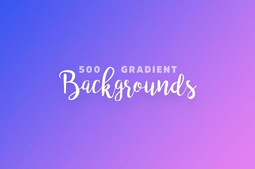 500 Gradient Backgrounds