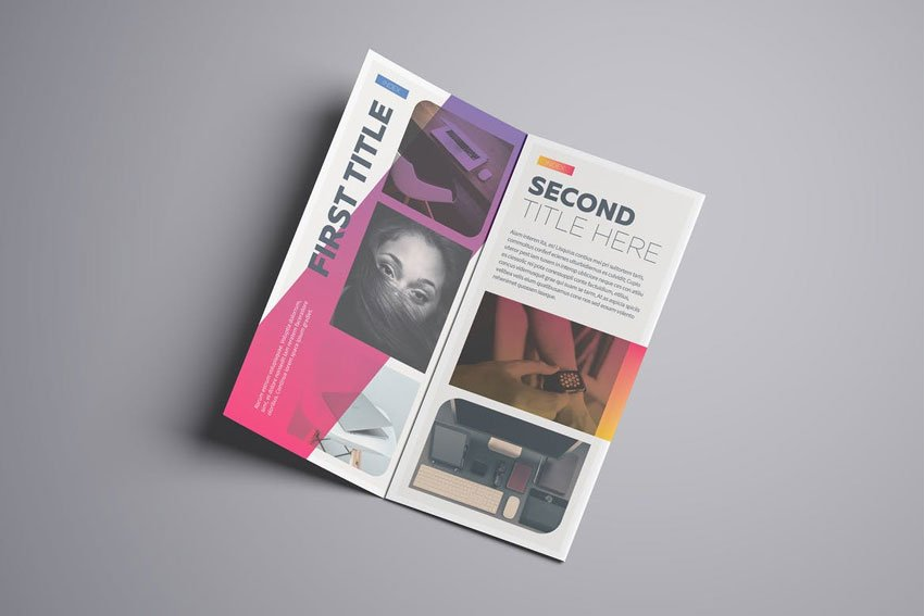 Gradient A4 Trifold Template