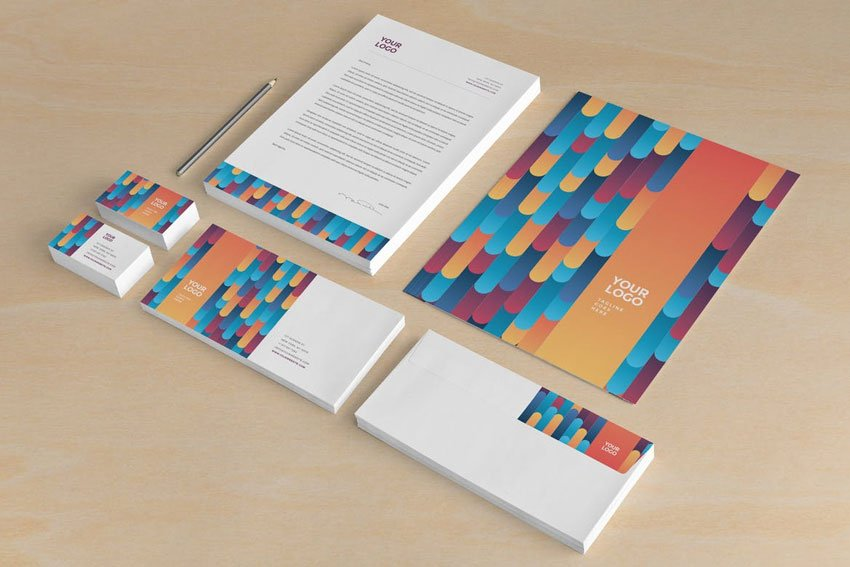 Cool Colorful Stripes Stationery