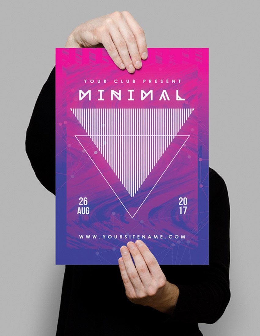 Modern Minimal Club Poster